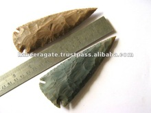 Wholesale Indian Agate Hand Knapped Arrowheads