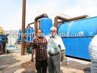 waste tire recycling machine by pyrolysis plant to fuel oil and diesel.