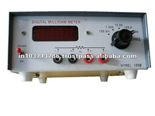 Digital Milliohm Meter used for the measurement of resistivity of copper wires from 16 SWG to 50 SWG