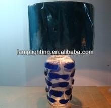 Transparent glass jar with blue dots decorative table lamp L3023-T1A