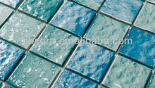 wavy special 48x48 ceramic swimming pool mosaic tiles