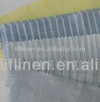 high quality 100% strip linen shirting shirt t-shirt fabric