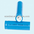 3.7v 700mAh 14500 lithium battery rechargeable battery for led flashlight