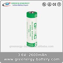 AA lithium battery 3.6v ER14505 industrial battery