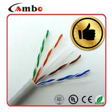 PVC Jacket/PE insulation cat 6 utp lan cable