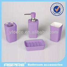 ceramic bath set with rubber coating