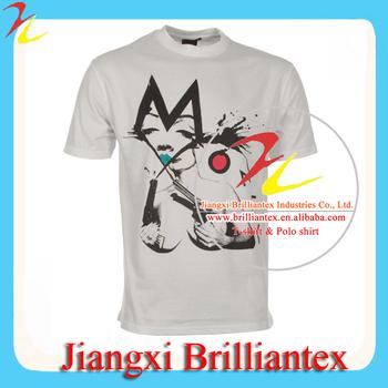 Custom White Silk Screen Printing Tshirts