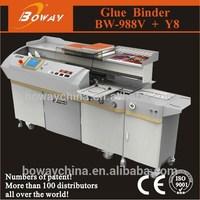 Boway 988V Y8 A3 automatic glue binder machine