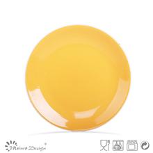 Factory direct wholesale stoneware round shape glaze plate