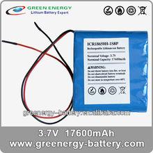 3.7V 17.6Ah CR18650H-1S8P long lasting battery for mobile phones