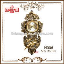 Fancy home art vintage decorative wall clock H006