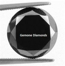 Natural Loose Black Diamond In Round Briliant Cut