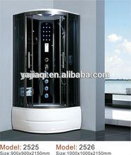2014 china hangzhou aluminum luxury massage standard size sliding door steam room shower