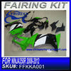 Factory fairings for motorcycles For kawasaki NINJA 250R 2008-2012 GREEN&WHITE&BLACK