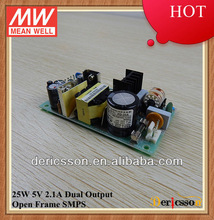 MEANWELL Dual Output Switch Power Supply 5V 12V 25W Open Frame UL/CUL TUV CB CE PD-25A