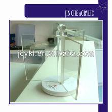 custom acrylic rotatable menu display