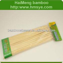 100PC-Espetos de bambu para churrasco,Bamboo sticks for barbecue
