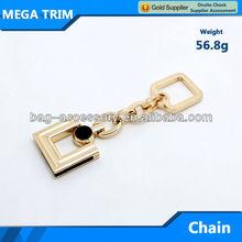 No.20162 Mega manufacturer wholesle light gold color metal bag hanging accessory