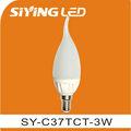 E27 / E14 levou luz de velas lâmpada cerâmica CE 220 v 3 w levou vela lâmpada de iluminação