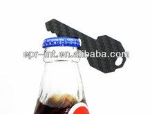 Carbon Fiber Key Shape Keyring Bottle Opener