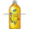 De qualité alimentaire de l'huile minérale en bouteille plastique, flacon blanc