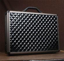 Stylish Styles Design Black Diamond Pattern Briefcase for Men, w/ Document Envelope, RZ-ALB08