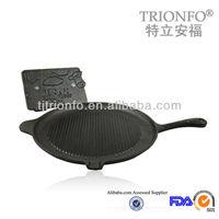 Thread interior bottom Black pre-seasoned cast iron poffertjes pan