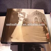 Acrylic cover modern wedding photo album making machine