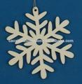 nuevo 2014 grabado láser artesanía de navidad colgando adornos de decoración de madera de los copos de nieve