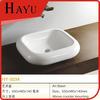 HY-3034 Modern White Bathroom Vanity Top With Square Ceramic Sink