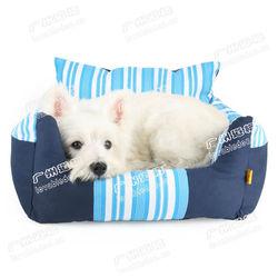 Stripe pet bed