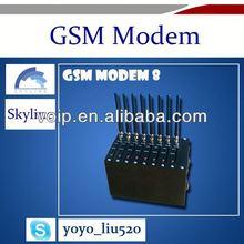 Providing 8 channels wavecom gsm modem bulk sms modem edge/gsm modem