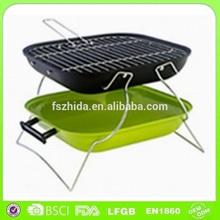 BQ023-Essentialz Mini Portable Charcoal Bbq Grill, Fldable Legs, Hinged Lid Lock