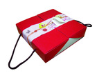 "GIFT SET SINGLE TRAY HANDLE BOX 8.5"" (RED & WHITE)"