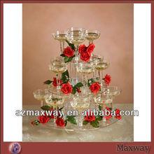 Maxway brand perspex wedding cake stand crystal