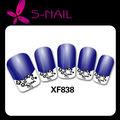 Nouvellement conception gracieuse 2014 français ongles autocollants, nail art, feuilles ongles autocollants, ongles dentelle