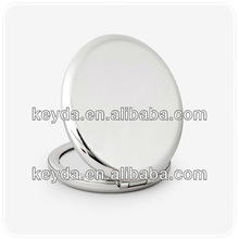 High quality smooth mirror/ metal round silver cosmetic mirror promotion gift