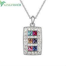 2014 Noblest design wholesale Fashion Jewelry!! Fashionable Austrian crystal necklace colorful charm pendant fashion jewelry!!