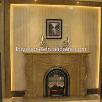 honey onyx marble fireplace