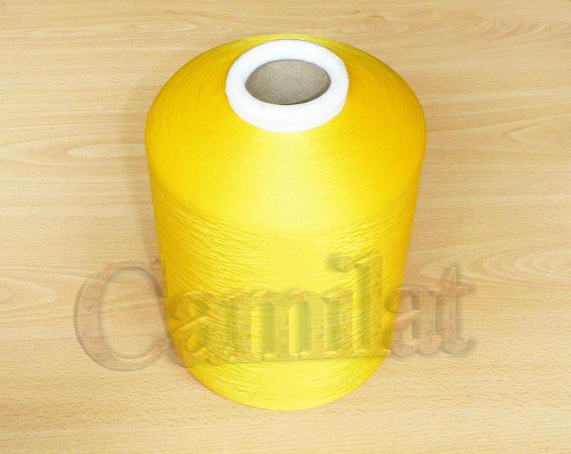 Hilo Polyester texturizado Color Amarillo