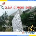 hoja de policarbonato para techos ligeros materiales de policarbonato claro de diamante en relieve hoja utilizado para cuarto de baño de la puerta