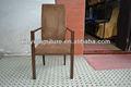 Imitación de madera de aluminio del banquete de la silla del brazo XA4061