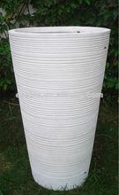 Garden round fiberstone pots / pot outdoor flower large