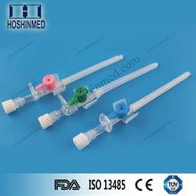 Smooth sharp painless needle sizes of I.V. cannula 24g/22g