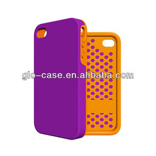 Hybrid Rubber Rugged Matte Hard Case Cover For iPhone 4G 4S