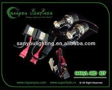 2012 Newest high quality hid xenon kit H4 H/L 6000K 35w/55w hid kits