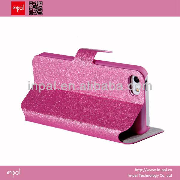 couro flip caso móvel para iphone 5c