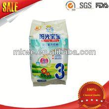 透明な袋の粉ミルク豆乳粉末