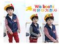 crianças camisa listrada de vaqueiro casaco para meninos