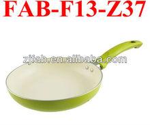 No Oil Nonstick Aluminum White Green Pan